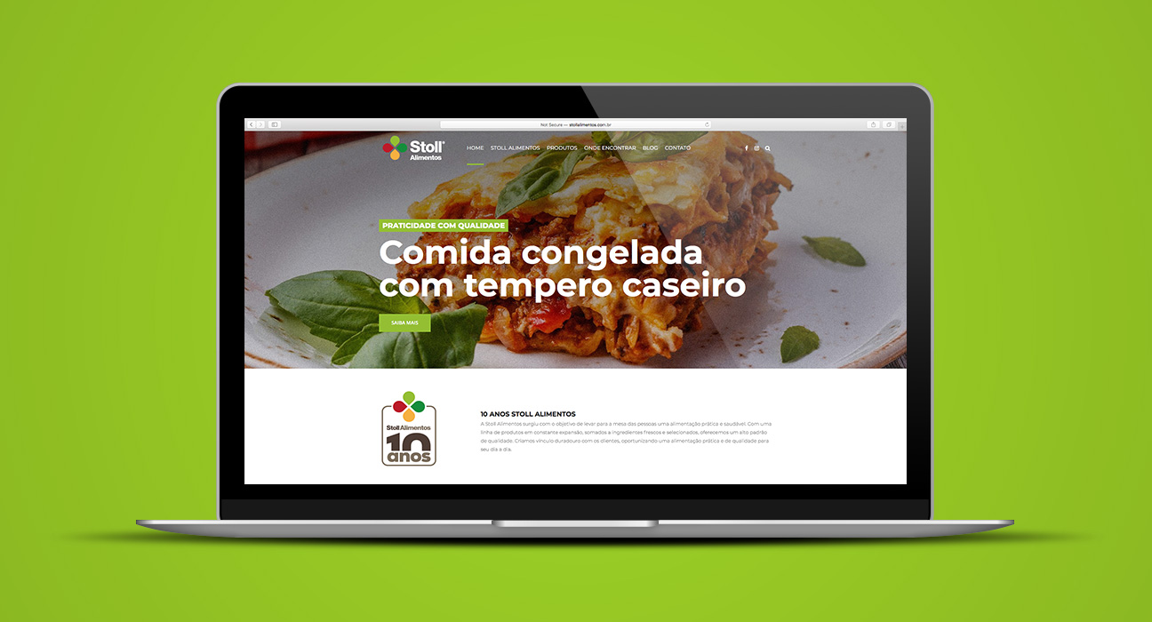 Web Design Stoll Alimentos