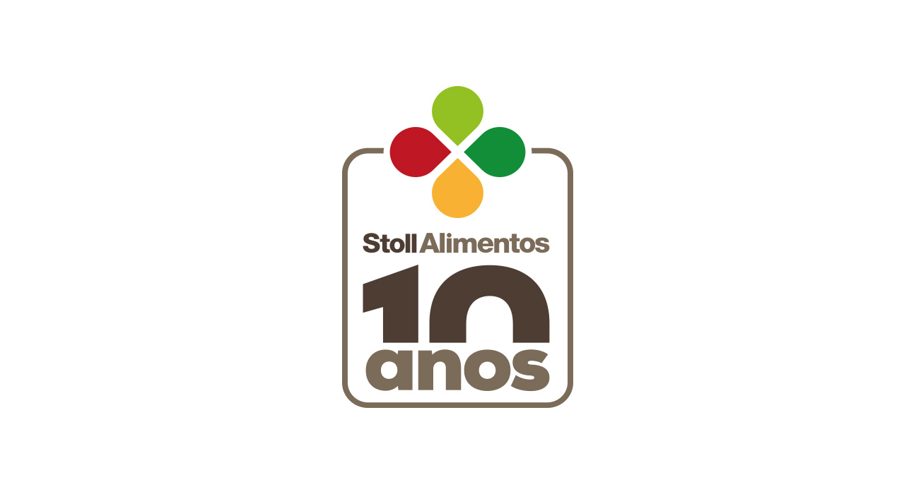 Selo 10 anos Stoll Alimentos